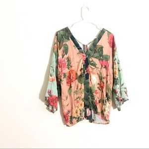 Anthropologie Farm Rio Floral Top